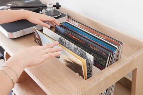 Portee Le Sur Mesure Du Meuble Pour Les Platines Vinyles Mariekke Meuble Vinyle Rangement Vinyle Meuble Pour Platine Vinyle
