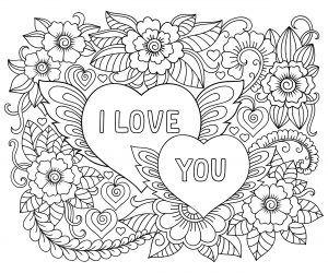 I Love You Mandalas De Amor Ilustracion De Flor Mandalas