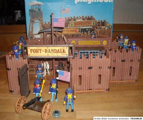 éléments fort randall playmobil western 3419