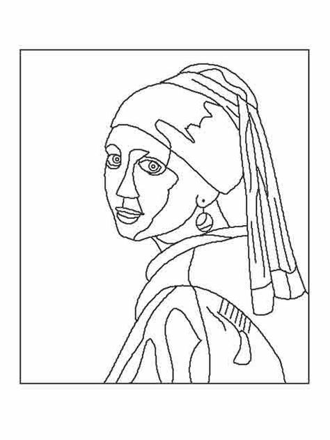 Incredible Coloring Pages World :: Pages of free artwork and tradition coloring pages to obtain and . Rembrandt, Desenhos Van Gogh, Art Sketches, Art Drawings, Culture Art, Johannes Vermeer, Colouring Pages, Printable Coloring Pages, Free Coloring