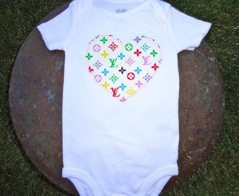 9a82aa0e5 Louis Vuitton Onesie | Baby love | Fabric hearts, Onesies, Louis vuitton