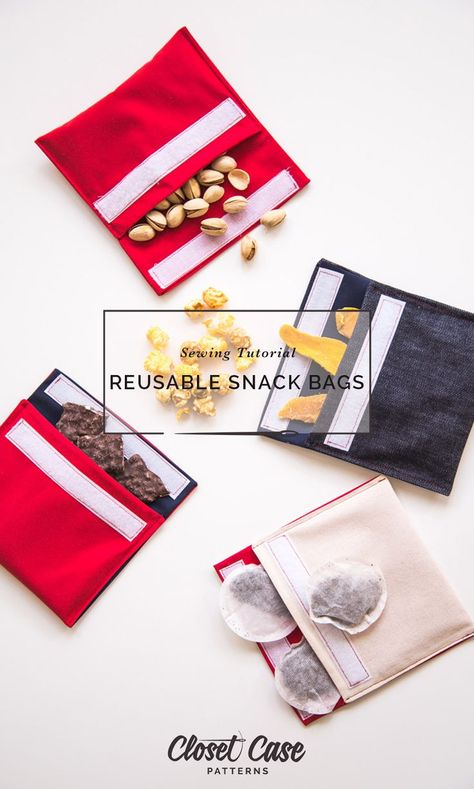 Reusable Snack Bag DIY // Closet Case Patterns An easy tutorial to make no-plastic, zero-waste snack bags!
