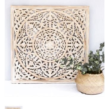Back In Stock Our Beautiful Carved Wall Panels From India As They Are From Mdf They Are More Affordable Than Our Stand With Images Wall Panels Teak Wood Home Treasures