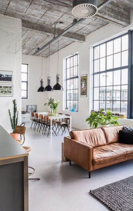 Living Room Scandinavian Loft 29 Ideas Rumah