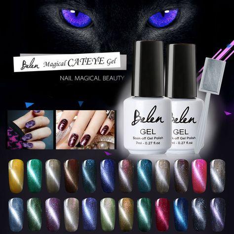 Belen Uv Led Cat Eye Nail Gel Polish Shining Color Soak Off Varnish