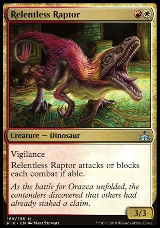 MTG Raptor Hatchling Ixalan Magic Card