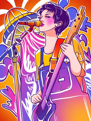 Colorful Graffiti Playing Guitar Singing Girl Illustration Country Singer Colorful And Colorful Graffiti Graffiti Wind Illustration Image On Pngtree Free Do Graffiti Diseños De Graffiti Ilustración De Chicas