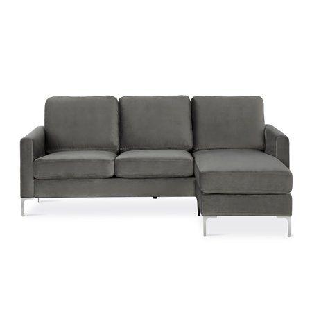 Home Velvet Sectional Sectional Sofa Modern Sofa Sectional