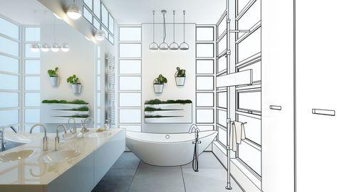 How Much Does An Average Bathroom Renovation Cost Bathroom Design Layout Bathrooms Remodel Beautiful Bathroom Designs