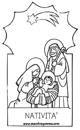 Pregrafismo Maestra Gemma Schede Natale Natale E Natività