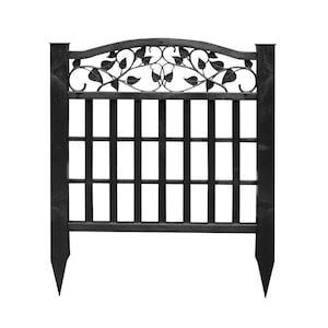 Freedom Decorative Ivy Screen Black Natl At Lowes Com In 2020 Vinyl Fence Panels Lattice Fence Panels Fence Panels