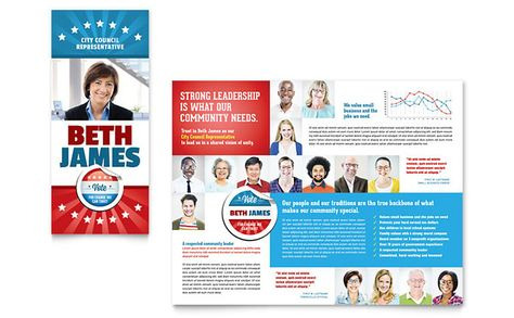 Political Candidate Brochure Design Template by StockLayouts - political brochure