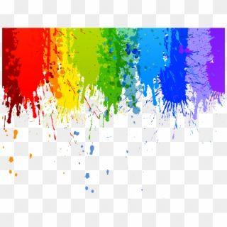 Paint Interesting Art Color Colour Rainbow Splash Rainbow Paint Splatter Hd Png Download Rainbow Painting Painting Watercolor Splash