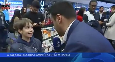 Menino Benfiquista Quer Que FC Porto Vença a Liga Dos Campeões