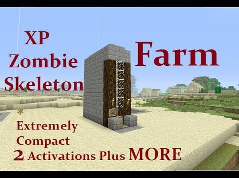 Minecraft Tutorial Xp Zombie Or Skeleton Farm Extremely Compact Perfect For Survival Mode Yout Minecraft Tutorial Minecraft Blueprints Minecraft Creations