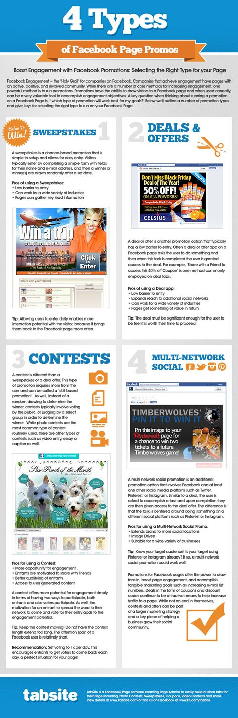 Select and Run Facebook Contest for your Page INFOGRAPHIC