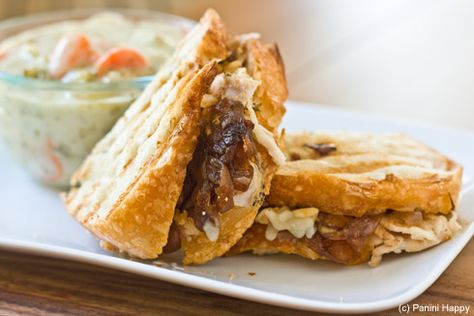 Turkey & Gruyere Panini with Roasted Garlic & Onion Jam