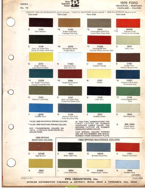 Pin By Aditi Joshi On Colors Car Paint Colors Ford Paint Charts