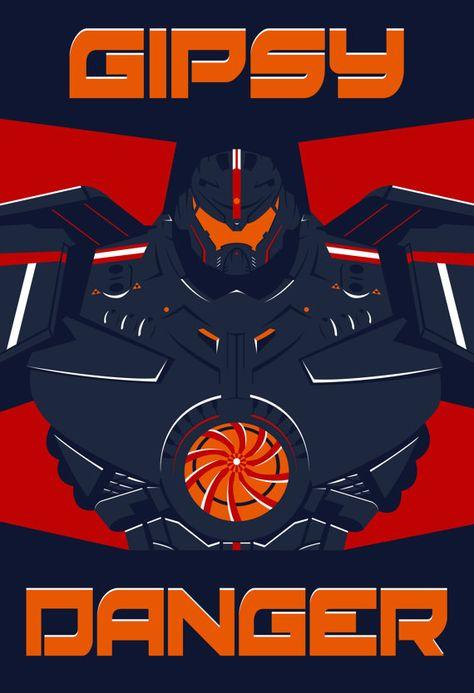 Pacific Rim - Gipsy Danger Poster - Jaeger