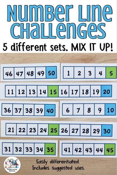 Number Line Challenge Activities Number Line Challenges Activities Differentiation Activities