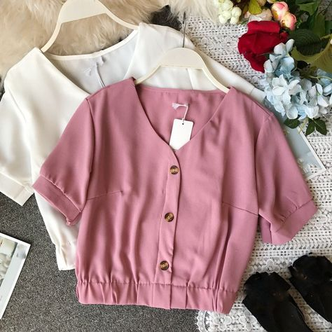 14.5US $ |2019 Korean Style Summer Crop Top Women Casual Chiffon Shirt Womens Elegant Party Blouses|Blouses & Shirts|   - AliExpress