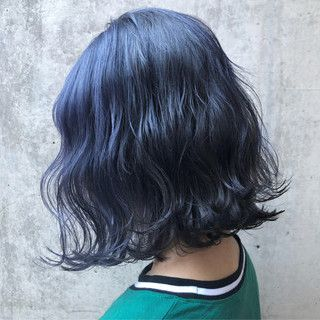 Akaneさんのスナップ ボブ ストリート 外国人風カラー ブルーブラック 韓国スタイル ネイビーカラー ヘアスタイリング 美髪 染めた髪