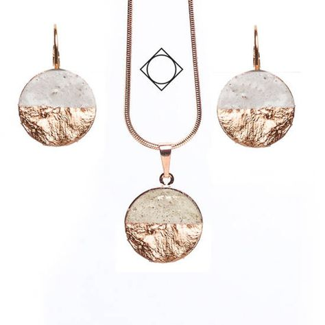 Beautiful copper Rosegold set handmade wonderful copper hand made story concrete present classic Classic
