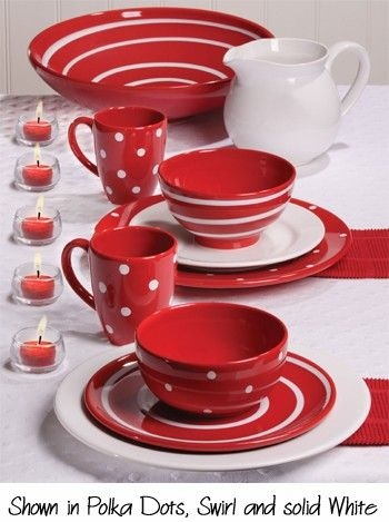 You Can T Beat Polkadots Especially In Red And White Dishes & Red And White Dishes | New House Designs