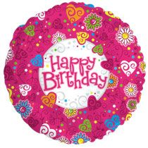 Bulk Happy Birthday Smiley Faces Foil Balloons 18 In At