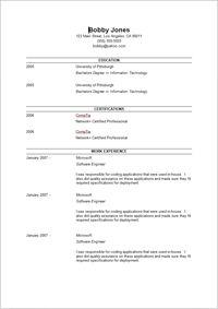 Microsoft Word Resume Templates Example Http Www Resumecareer