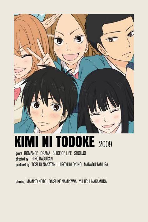 Kimi ni Todoke anime series minimalist/alternative poster !