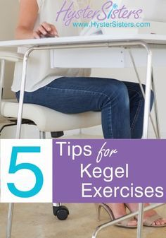 What are some tips for doing kegel exercises?