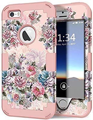 outlet store 6084d f2161 Amazon.com: iPhone 5s Case, iPhone SE Case, Hocase Heavy Duty ...