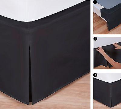 Easy to Use Wraparound Bed Skirt: Tailored, Split Corner Design,14