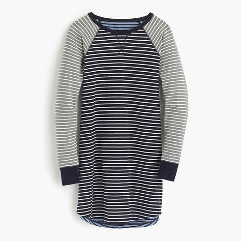 b0d3be2127 J.Crew Womens Knit Nightshirt In Mixed Stripe