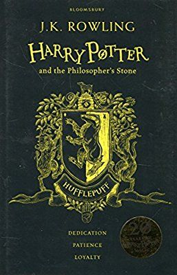 Harry Potter And The Philosopher S Stone Hufflepuff Edition Black And Yellow J K Philosopher S Stone Harry Potter Rowling Harry Potter Philosophers Stone