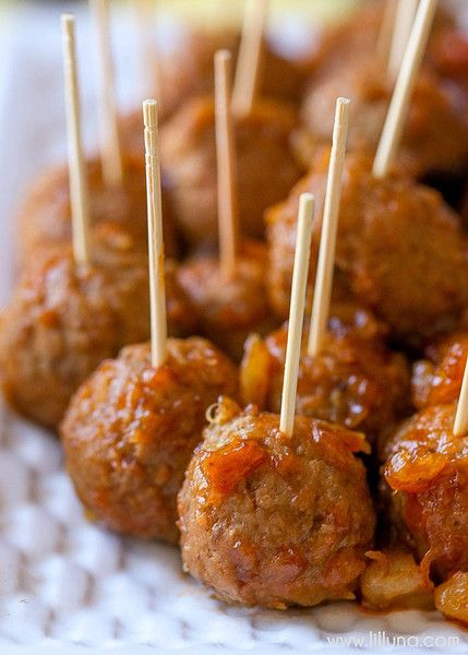 BBQ Pineapple Meatballs - Classic Super Bowl Party Food - Photos