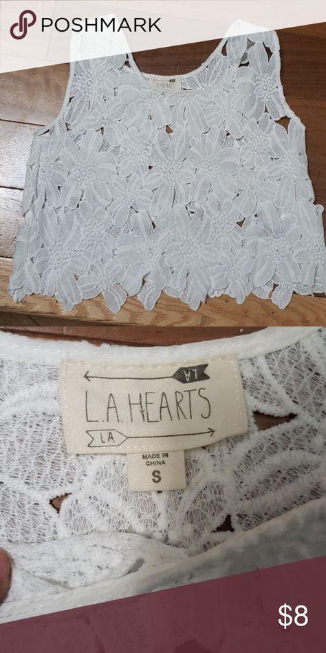 Knit top crop top White Knit crop top La Hearts Tops Crop Tops