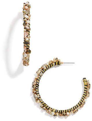 Baublebar Antares Crystal Hoop Earrings Sterling Silver Earrings Studs Gemstone Earrings Geode Jewelry