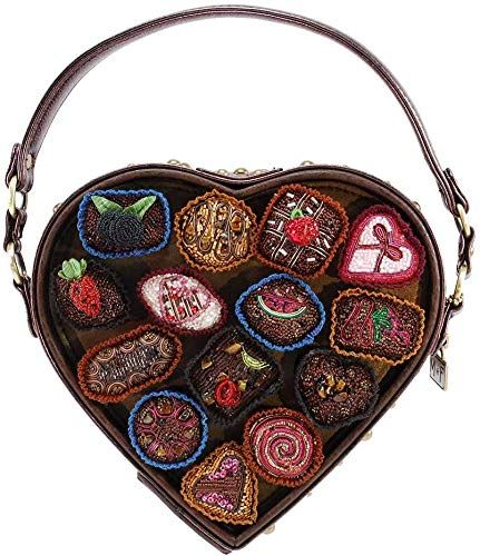 Mary Frances Dead of Night Embellished Sugar Skull Cross-body Handbag Bag New