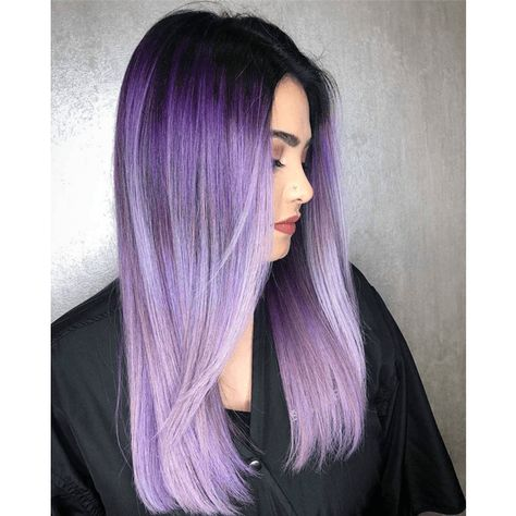 Lush Lilac Melt Looking for a gorgeous purple hair color formula for your bolder clients? Light Purple Hair, Dyed Hair Purple, Lilac Hair, Hair Color Purple, Cool Hair Color, Green Hair, Lilac Color, Short Purple Hair, Pastel Hair