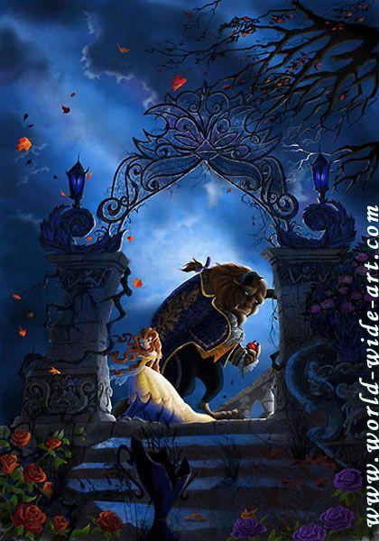 Beauty and the Beast - Beastly Garden - Walt Disney Storybooks - World-Wide-Art.com