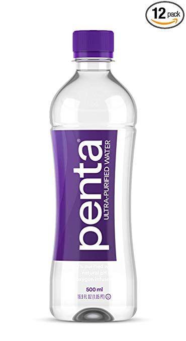Penta 100 Ultra Purified Bottled Water Natural Ph Hydration 13 Step Purification Process 16 9 Water Bottle Label Design Water Bottle Water Bottle Design