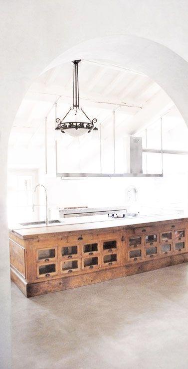 Amazing Reclaimed Vintage Shop Counter Kitchen Bench Kitchen Machost Co Dining Chair Design Ideas Machostcouk