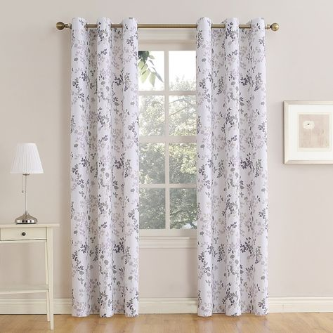No 918 1 Panel Montego Esther Window Curtain Lt Purple Grommet