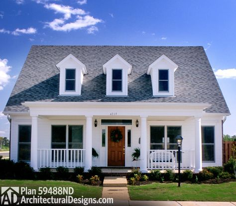 Plan 59488nd Cozy Front Porch Country Cottage House Plans Brick House Plans Cottage House Plans