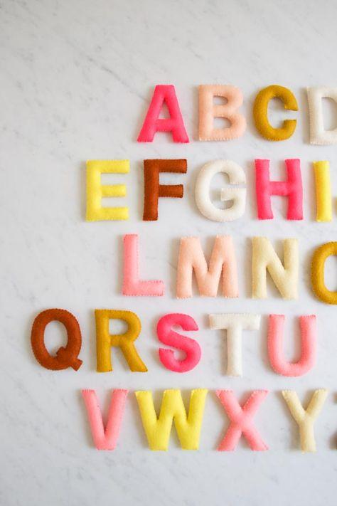 Felt Alphabet Banner 600 3 Filz Buchstaben Selbermachen Und