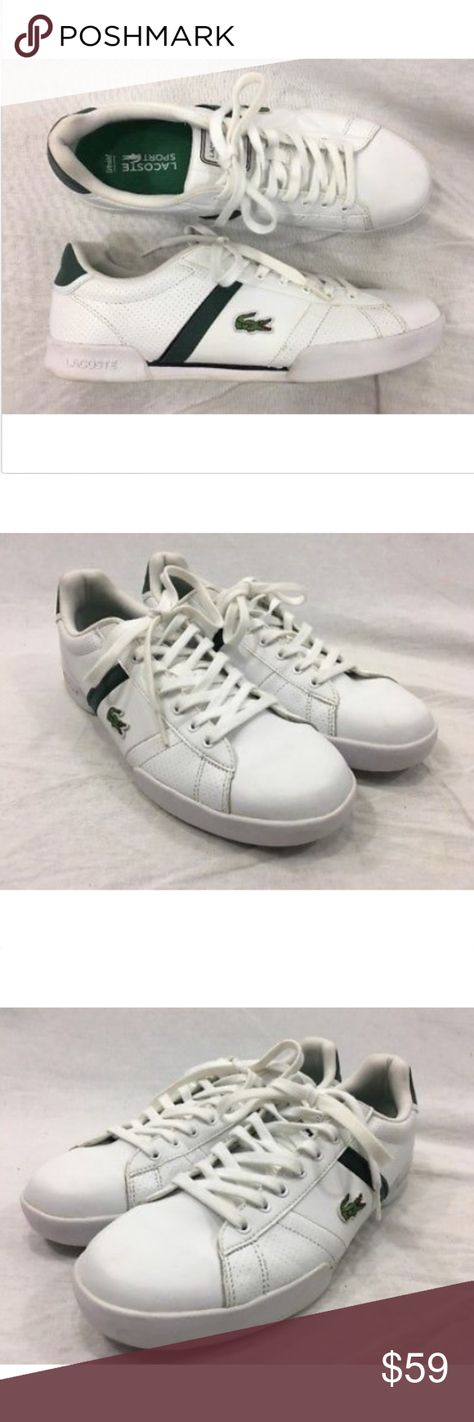 3c72ab850465e1 Lacoste Sport Sneakers Shoes Deston GRV Leather Lacoste Sport Sneakers  Shoes Mens 10 Deston GRV White