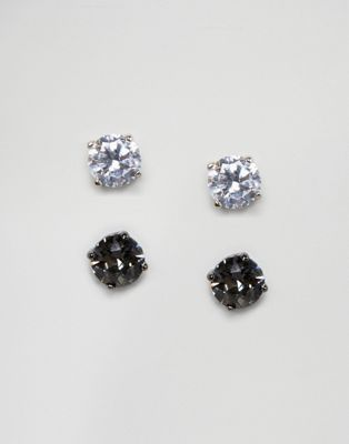 84d90c0246129 Simon Carter clear & black stud earrings with crystals from ...