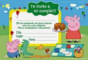 Generar Invitacion De La Peppa Ping Gratis Invitacion De La